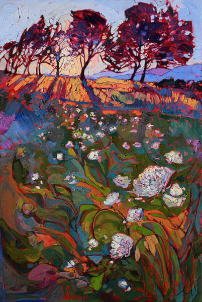 Wall Art - Painting - Shadow Bloom by Erin Hanson