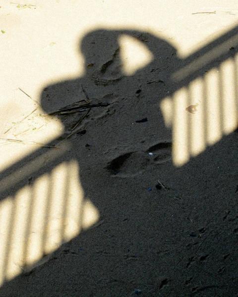 Photograph - Shadow In The Sand by Bob Slitzan