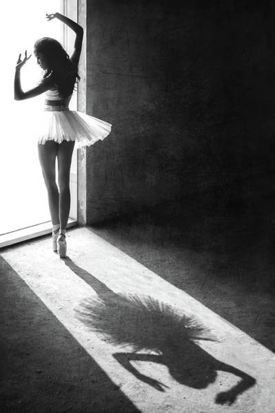 Ballerina Photograph - Shadow Dance by Sebastian Kisworo