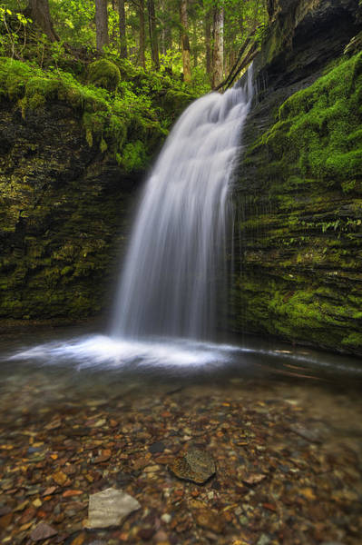 Plunge Photograph - Shadow Falls by Mark Kiver