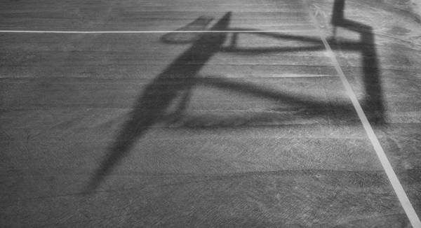 Photograph - Shadow On The Basketball Court by Gary Slawsky