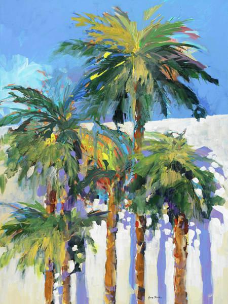 Coastal Digital Art - Shadow Palms I by Jane Slivka