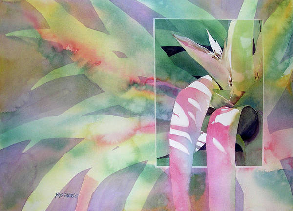 Tropical Garden Painting - Shadow Play by Kris Parins