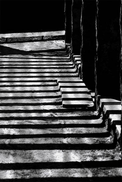 Wall Art - Painting - Shadow To Steps by Jack Zulli