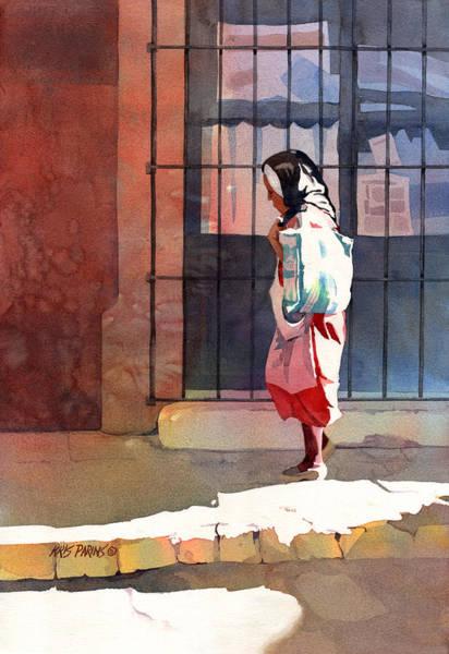 Pueblo Painting - Shadow Woman by Kris Parins