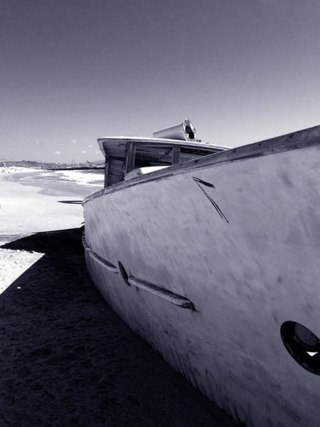 Photograph - Shadowed Shipwreck by Lorraine Devon Wilke