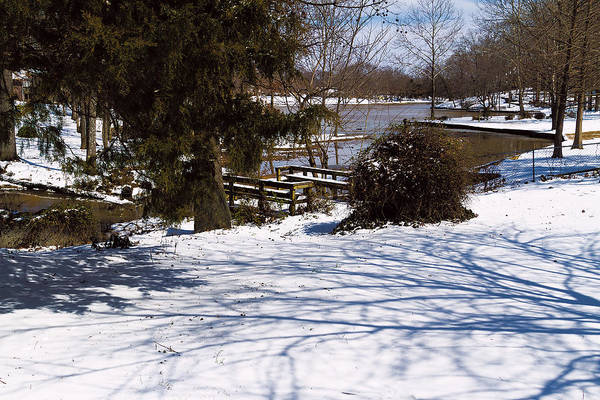 Photograph - Shadows And Snow - Winter Landscape by Barry Jones