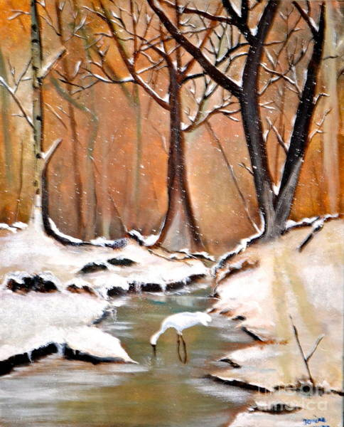 Painting - Shadows Beyond Winter by Denise Tomasura