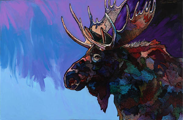 Moose Painting - Shadows by Bob Coonts