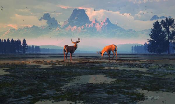 Digital Art - Shadows Of Creation by Dieter Carlton