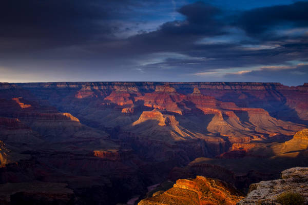 Grand Canyon Photograph - Shadows Play At The Grand Canyon by Andrew Soundarajan