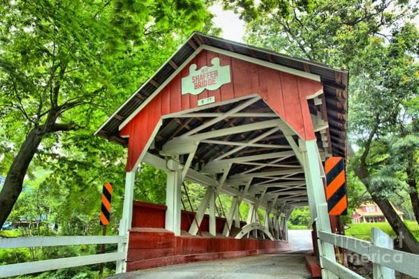 Shafer Covered Bridge Art Print