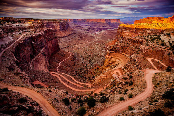 Photograph - Shafer Trail Horizontal by TL  Mair