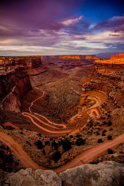 Shafer Trail Vertical Art Print