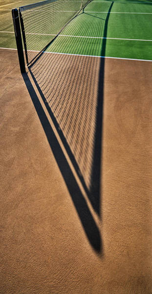Photograph - Shadows And Angles On The Court by Gary Slawsky