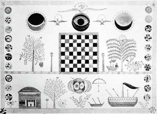 Checker Drawing - Shaker Drawing, C1880 by Granger