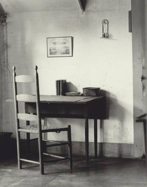 Wall Art - Photograph - Shaker Sewing Table And Chair by Everett