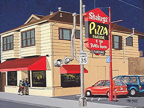 Shakey's Pizza Art Print by Paul Guyer