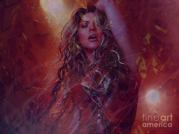 Digital Art - Shakira by Jessie Art