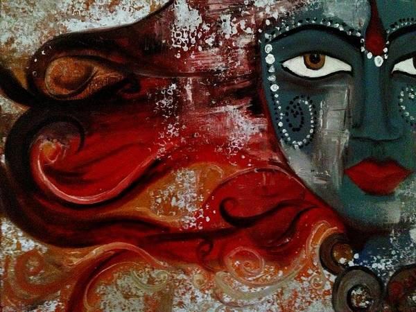 Hindu Goddess Wall Art - Painting - Shakti by Bimi Felix