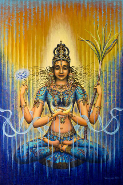 Wall Art - Painting - Shakti Flow by Vrindavan Das