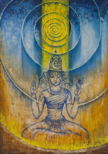 Wall Art - Painting - Shakti by Vrindavan Das