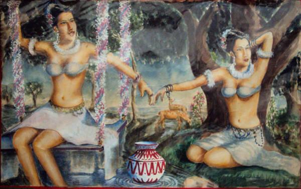 Ms Mixed Media - Shakunthale by Paniraj Ms