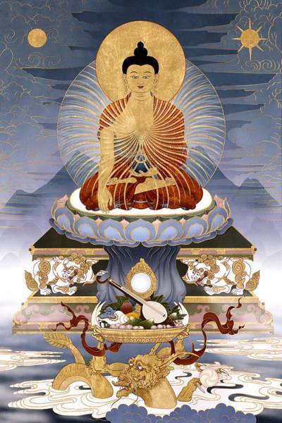 Shakyamuni Buddha - The Dragons Story Art Print by Ben Christian