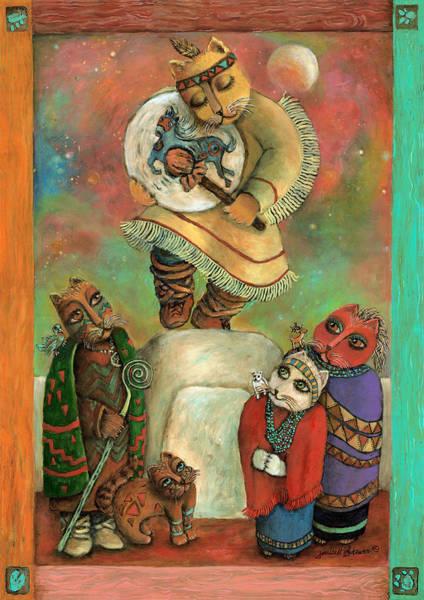 Rain Song Painting - Shaman Chants by Janice Hightower