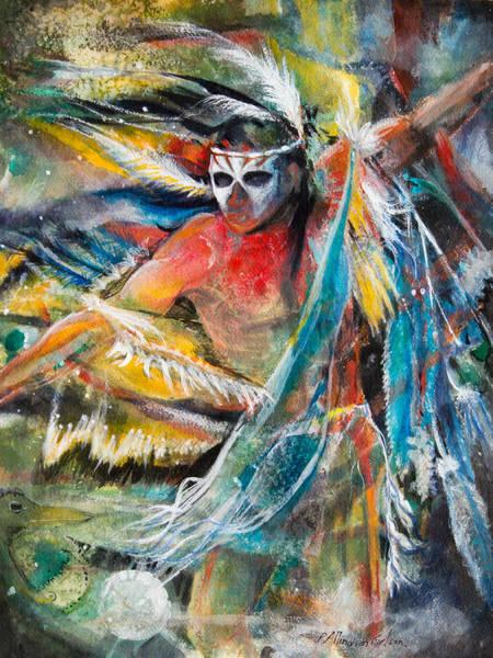 Shaman Wall Art - Painting - Shaman by Patricia Allingham Carlson