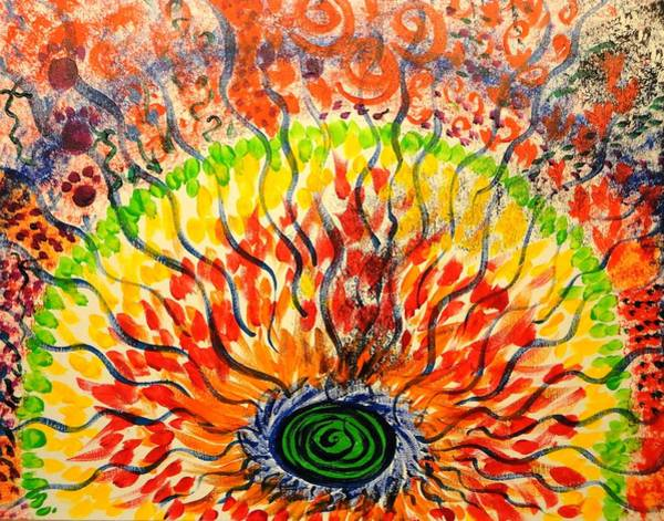 Wall Art - Painting - Shaman's Fire by Valerie Howell