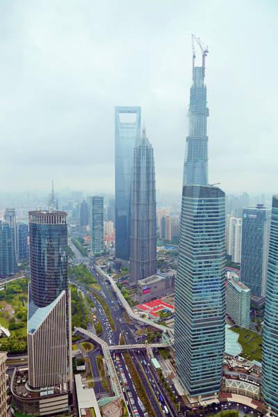 Wall Art - Photograph - Shanghai Lujiazui Financial District by Pan Hong