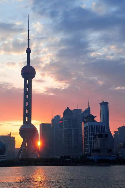Photograph - Shanghai Morning Sunrise by Songquan Deng