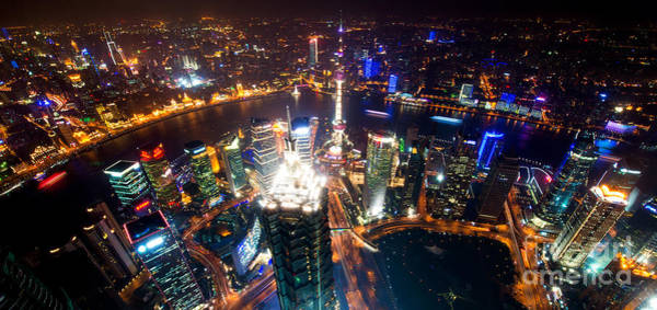 Photograph - Shanghai Night Scenery by Yew Kwang