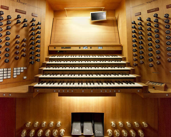 Photograph - Shanghai Organ Console by Jenny Setchell