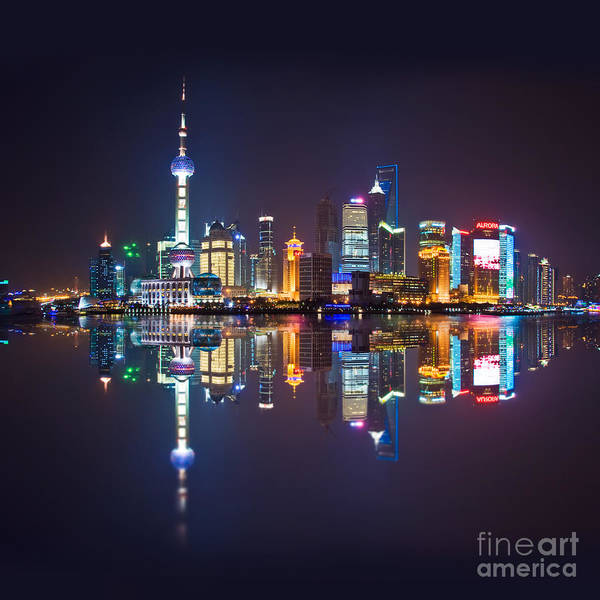 Wall Art - Photograph - Shanghai Reflections by Delphimages Photo Creations