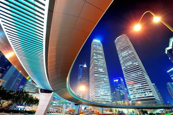 Photograph - Shanghai Urban Street View by Songquan Deng