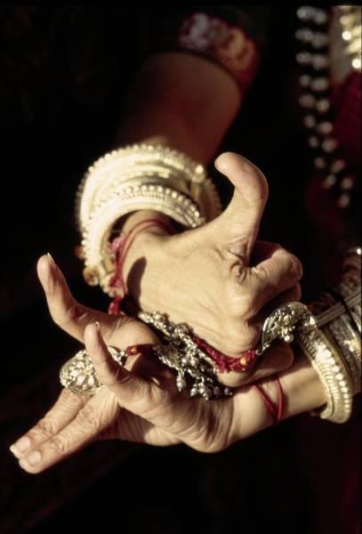 Wall Art - Photograph - Shanta Rao's Hands Demonstrating Mudras by Arnaud de Rosnay