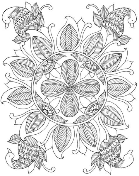 Adult Drawing - Shape Pattern 12 by MGL Meiklejohn Graphics Licensing