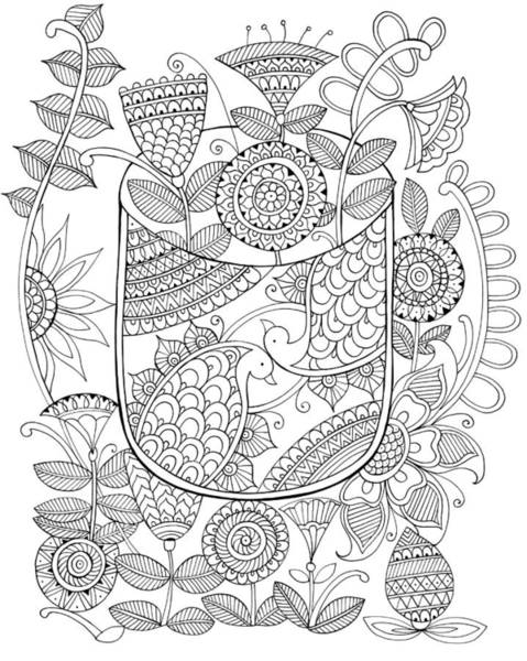 Wall Art - Drawing - Shape Pattern 9 by MGL Meiklejohn Graphics Licensing