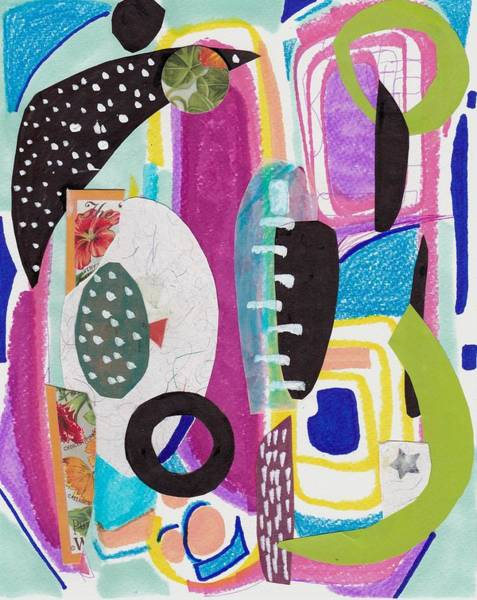 Cut-out Mixed Media - Shapes In Space by Rosalina Bojadschijew