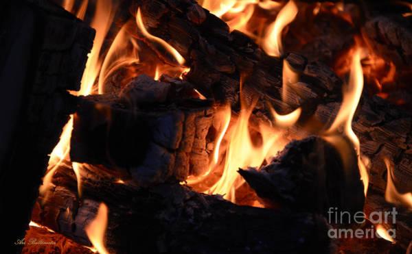 Flammable Wall Art - Photograph - Shapes Of Fire 36 by Arik Baltinester