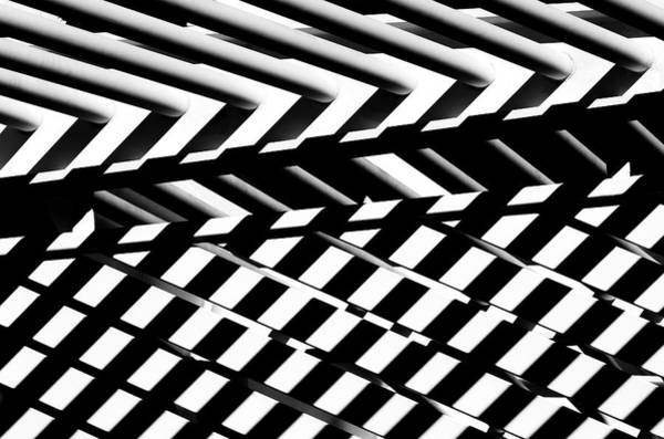 Zebra Pattern Photograph - Shapes Of Shadows by Hans-wolfgang Hawerkamp