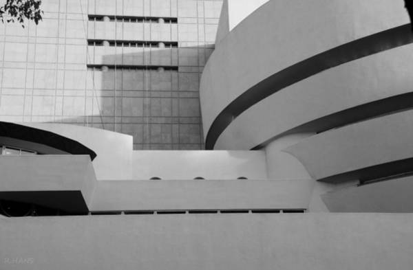 Photograph - Shapes Of The Guggenheim In Black And White by Rob Hans