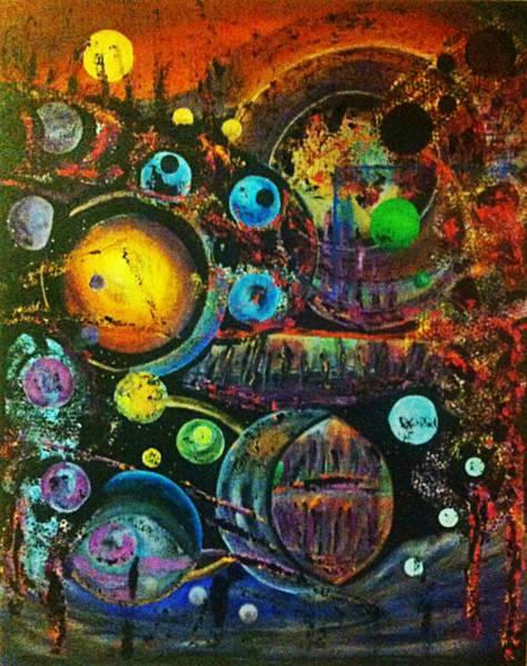 Michael Ferguson Wall Art - Painting - Shapes - World by Michael Ferguson