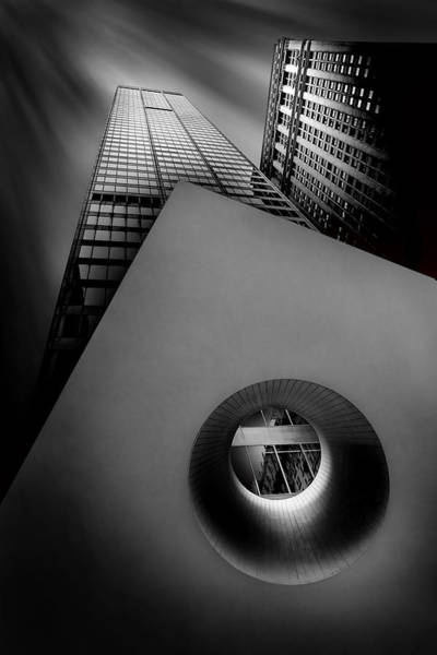Black And White Abstract Photograph - Shaping The Skyline by Az Jackson