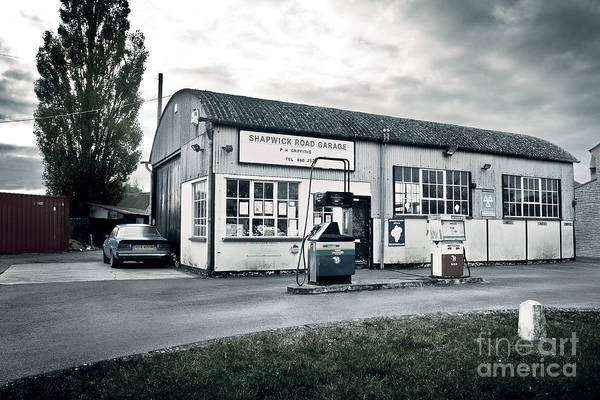 Somerset County Photograph - Shapwick Garage by Simon Plant
