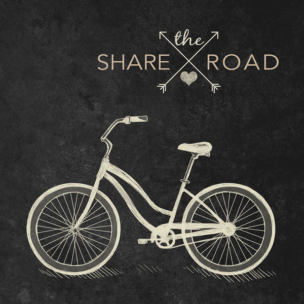 South Beach Digital Art - Share The Road by South Social Studio