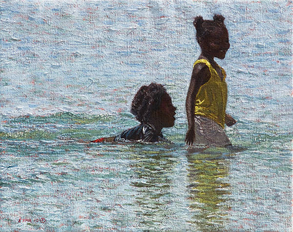 Painting - Wading by Ritchie Eyma