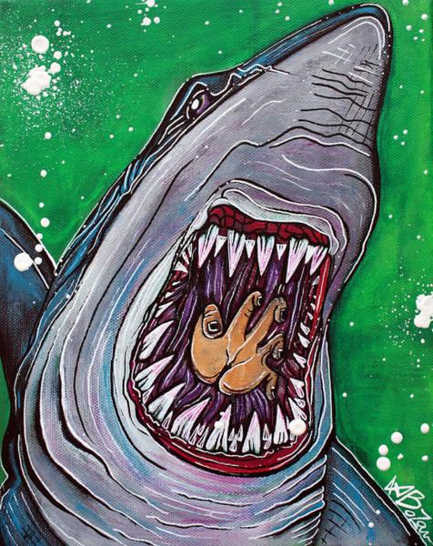 Wall Art - Painting - Shark Kill Zone by Laura Barbosa